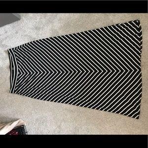 LOFT Skirts - LOFT Striped Maxi Skirt